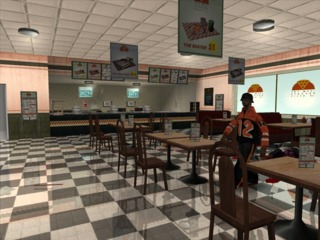Pizza Shop in San Andreas... before the inevitable massacre