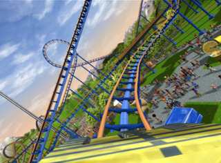 Players can ride their own roller coasters with CoasterCam