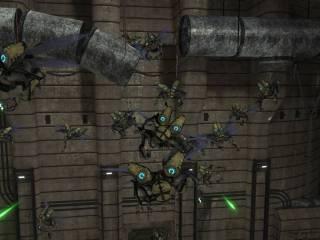 A swarm of Drones