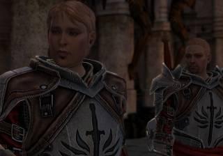 Knight Captain Cullen and the Templar recruit, Keran.