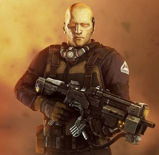 Hale's Multiplayer Skin in Resistance 3.