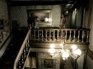 A screenshot taken from the 2002 remake of the same corridor
