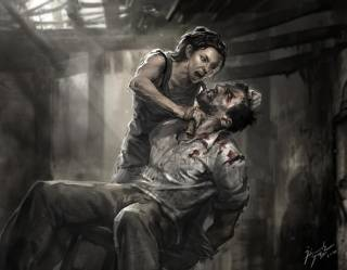 Concept art depicting an alternate ending.