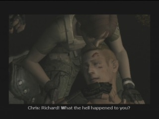 Chris Redfield upon locating Richard and Rebecca.
