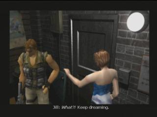 Jill rejecting Carlos' flirtatious advances.