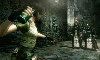 Rebecca Chambers armed with a grenade.