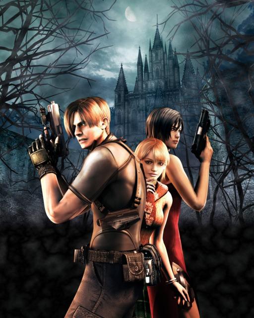Main characters Leon, Ashley and Ada