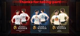 The three t-shirt winners