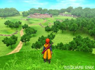 The beautifully constructed world of Dragon Quest VIII.
