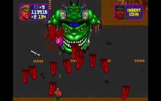 The player being barraged with a volley of severed tongues.