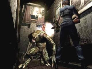 Jill Valentine doing battle against a Hunter.