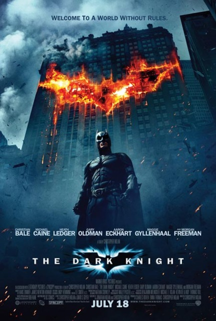 Poster for The Dark Knight.