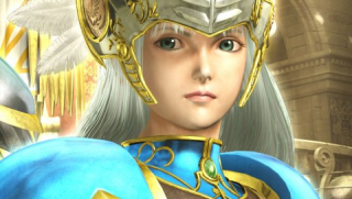 Lenneth in the 3D pre-rendered cutscenes of the PSP version.