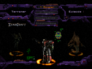 German StarCraft 64. Complete with translated text and voice.