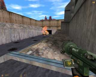 A scene from Half-Life