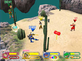 Battle fought in Desert stage.