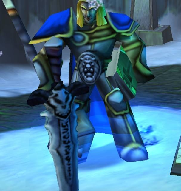 Arthas claiming Frostmourne