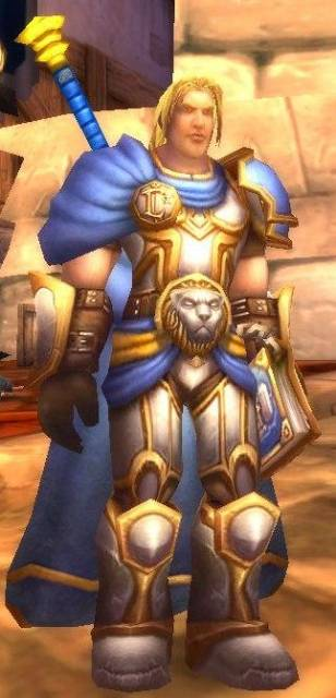 Arthas, as seen in the Culling of Stratholme instance in World of Warcraft
