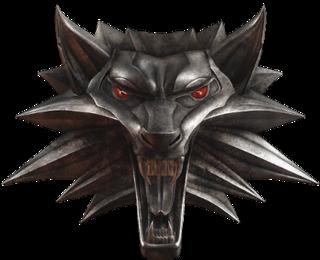 Geralt's medallion.