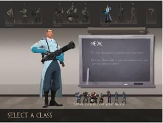 Class select screen.
