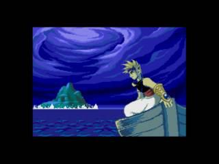 Ali, escaping the island.