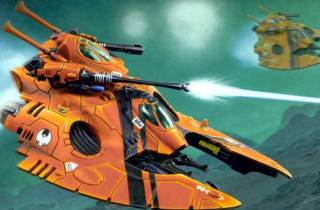 Falcon Grav-Tanks give the Saim-Hann heavy hitting power without sacrificing their beloved speed