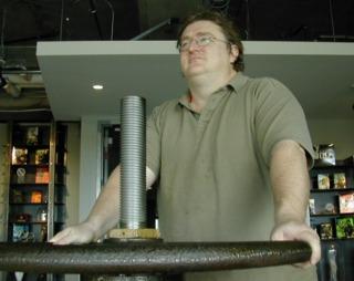 The valve at Valve's headquarters.