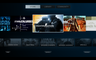 The storefront in Big Picture Mode