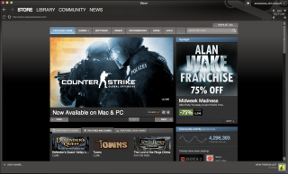 The storefront in 2010, running on Mac
