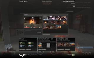 The Steam overlay as of the 2010 redesign, running over TF2