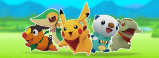 The five playable Pokémon in Gates to Infinity