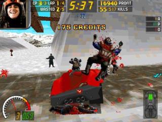 The player running over a pedestrian