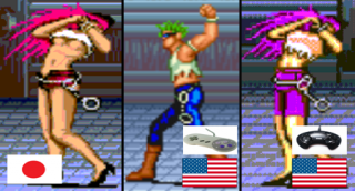Poison's sprite edits and swaps in the multiple versions of Final Fight.