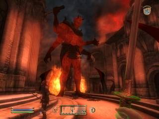 The Daedric Prince Mehrunes Dagon assaulting the Imperial City.