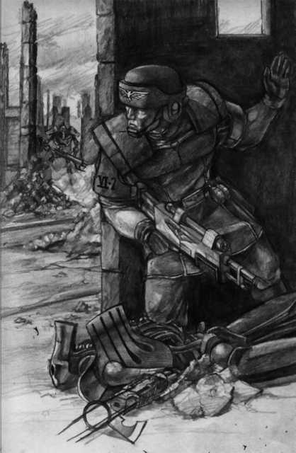 Guardsman amongst the Necron