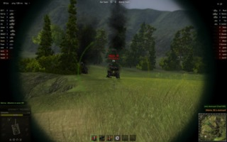 First person mode allows you to zoom and snipe at distant targets