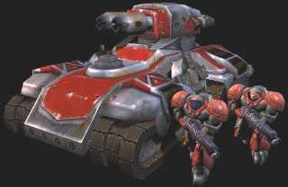 Siege  Tank concept art.