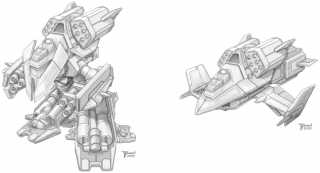 Viking concept art of both ground and air modes