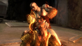 Helios the Sun God meets Kratos, angry person.