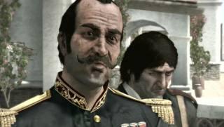 Colonel Allende (left) and Captain De Santa