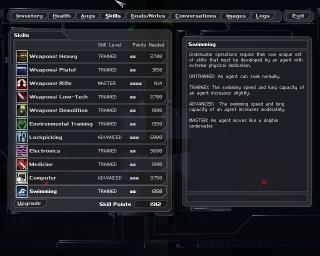 Skill Upgrade Screen