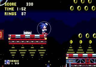 Sonic wearing the water shield