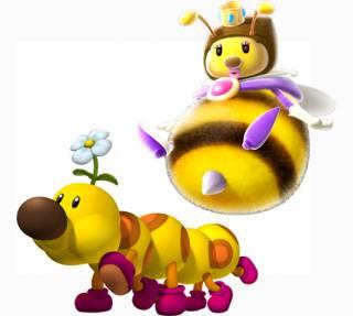 Honey Queen and Wiggler make their racing debut in Mario Kart 7