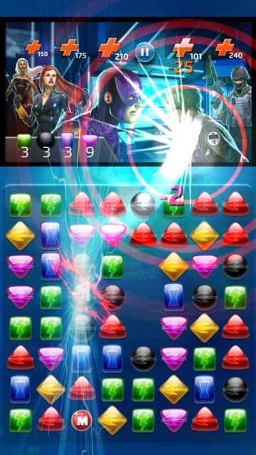 Hawkeye is attacking because gems with his icon have been matched.