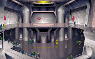 Spaceport of the Alliance flagship Independence.