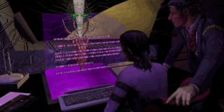 Edward Diego observes as SHODAN's ethical constraints are removed.
