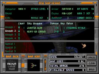 The Ship Design Screen