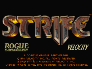 The Strife Title Screen.