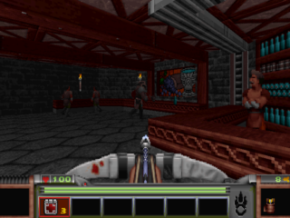 A glimpse of the Tarnhill tavern, a location within the game's starting area.