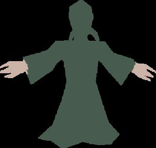 A silhouetted Shalrath, Qtest's Vore precursor